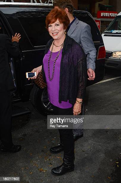 Actress Vicki Lawrence leaves the 'Today Show' taping at the NBC Rockefeller Center Studios on September 10 2013 in New York City