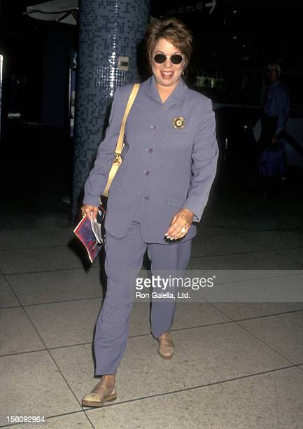 Actress Vicki Lawrence on September 26 1996 departing from the Los Angeles International Airport in Los Angeles California