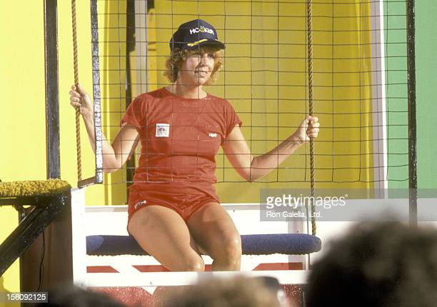Actress Vicki Lawrence participates in the 'Battle of the Network Stars' Taping on April 1 1984 at Pepperdine University in Malibu California