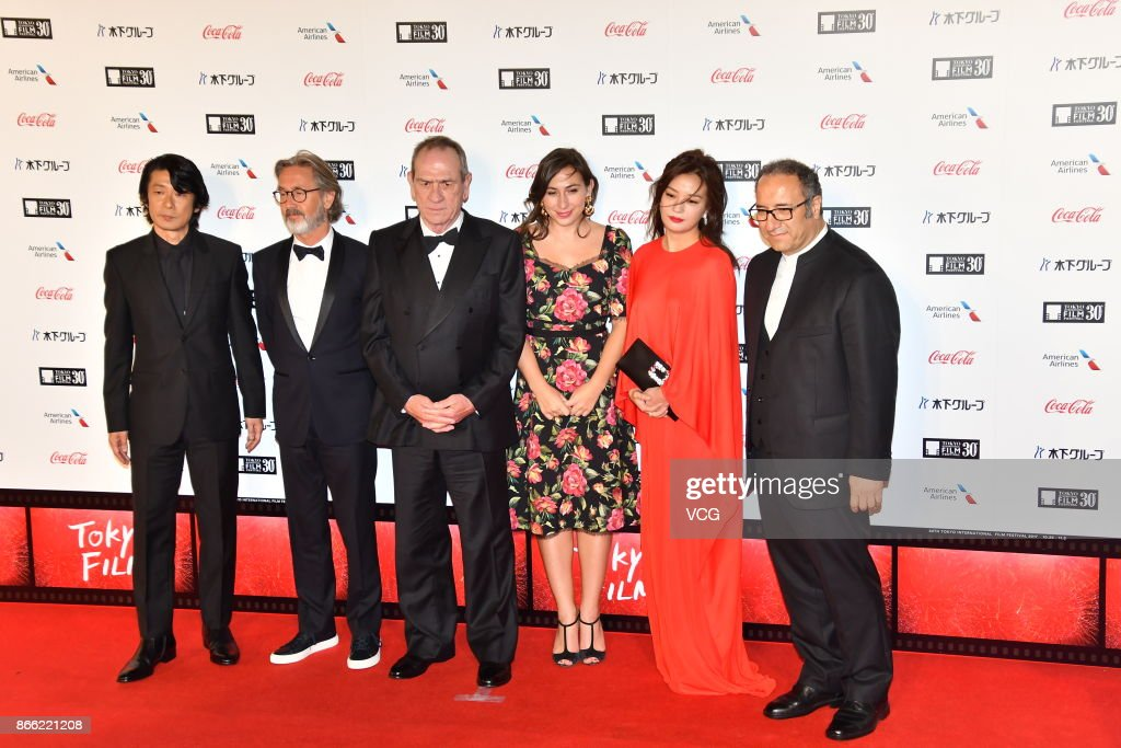 Actress Vicki Zhao (R2) arrives at the red carpet of the 30th Tokyo International Film Festival at Roppongi Hills on October 25, 2017 in Tokyo, Japan.