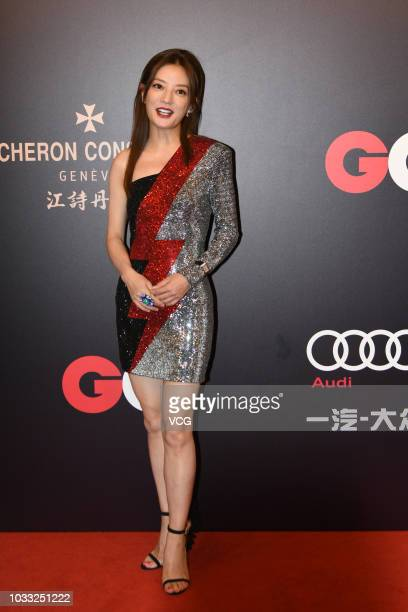 Actress Vicki Zhao Wei poses on the red carpet of 2018 GQ Men of the Year awards ceremony on September 8 2018 in Shanghai China