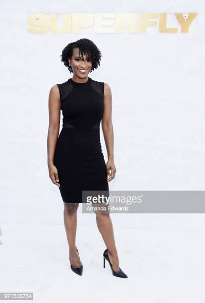 Actress Vicky Jeudy arrives at a special screening of 'SuperFly' hosted by Sony Pictures Entertainment at Sony Pictures Studios on June 10 2018 in...