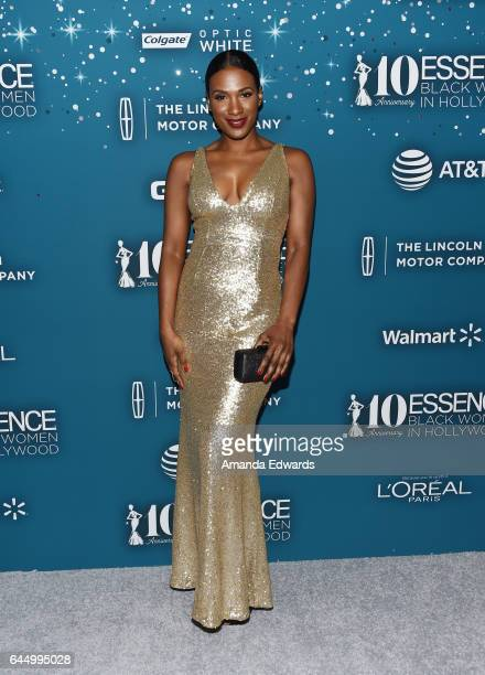 Actress Vicky Jeudy arrives at the Essence 10th Annual Black Women in Hollywood Awards Gala at the Beverly Wilshire Four Seasons Hotel on February...