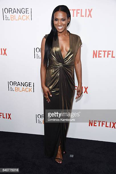 Actress Vicky Jeudy attends 'Orange Is The New Black' premiere at SVA Theater on June 16 2016 in New York City