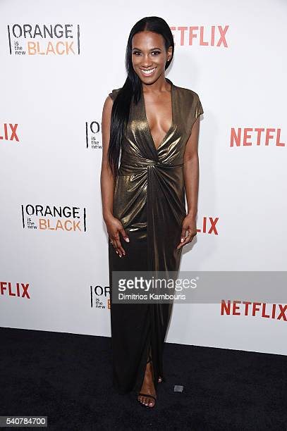 Actress Vicky Jeudy attends Orange Is The New Black premiere at SVA Theater on June 16 2016 in New York City