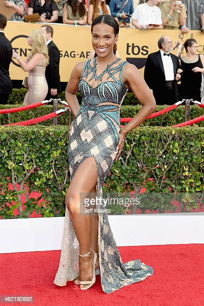 Actress Vicky Jeudy attends the 21st Annual Screen Actors Guild Awards at The Shrine Auditorium on January 25 2015 in Los Angeles California