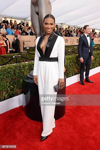 Actress Vicky Jeudy attends The 22nd Annual Screen Actors Guild Awards at The Shrine Auditorium on January 30 2016 in Los Angeles California 25650_016