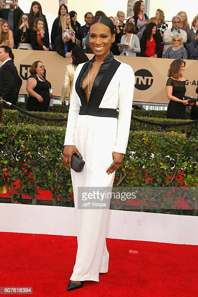 Actress Vicky Jeudy attends the 22nd Annual Screen Actors Guild Awards at The Shrine Auditorium on January 30 2016 in Los Angeles California