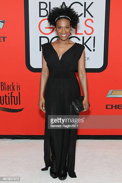 Actress Vicky Jeudy attends the BET's Black Girls Rock Red Carpet sponsored by Chevrolet at NJPAC – Prudential Hall on March 28 2015 in Newark New...