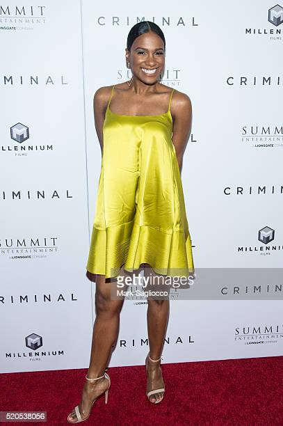 Actress Vicky Jeudy attends the Criminal New York Premiere at AMC Loews Lincoln Square 13 theater on April 11 2016 in New York City