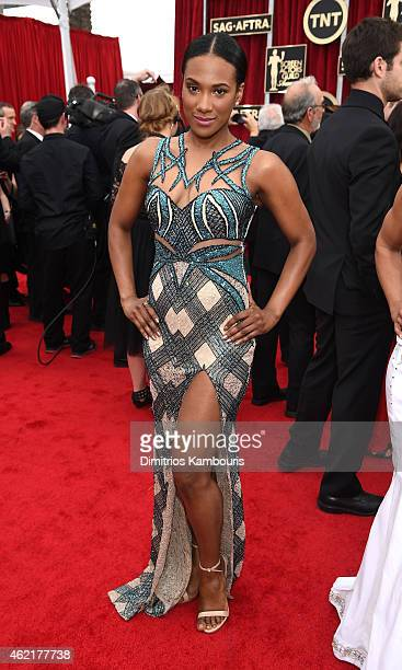Actress Vicky Jeudy attends TNT's 21st Annual Screen Actors Guild Awards at The Shrine Auditorium on January 25 2015 in Los Angeles California...