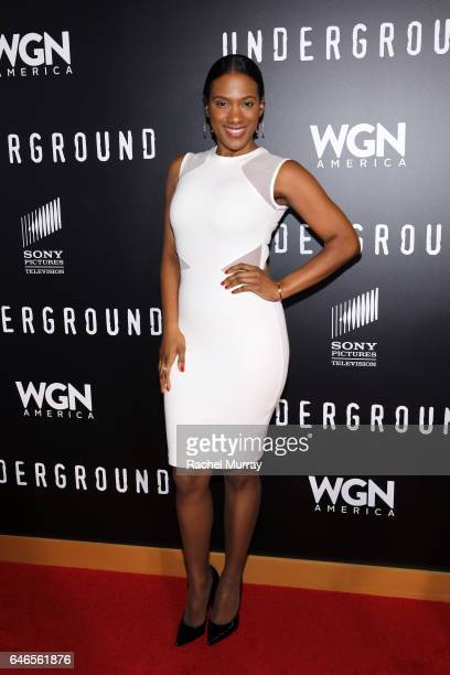 Actress Vicky Jeudy attends WGN America's Underground Season Two Premiere Screening at Regency Village Theatre on March 1 2017 in Westwood California