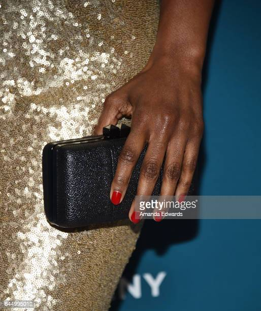 Actress Vicky Jeudy, clutch detail, arrives at the Essence 10th Annual Black Women in Hollywood Awards Gala at the Beverly Wilshire Four Seasons...
