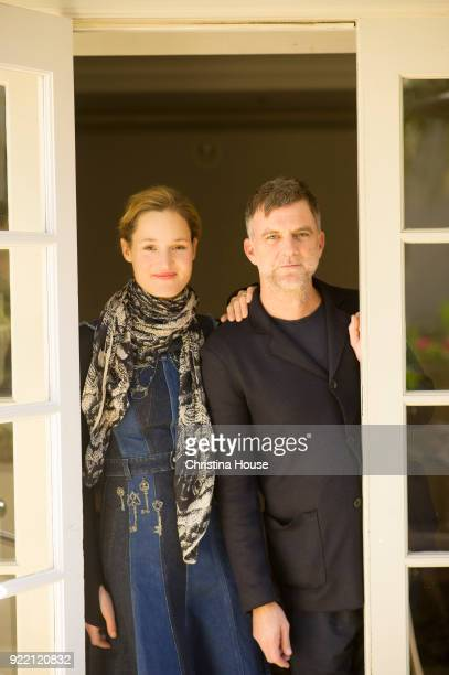 Actress Vicky Krieps and director Paul Thomas Anderson are photographed for Los Angeles Times on December 7 2017 in Beverly Hills California...