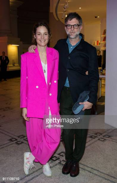 Actress Vicky Krieps and director Paul Thomas Anderson attend an exclusive screening of 'Phantom Thread' hosted by Universal Pictures in partnership...
