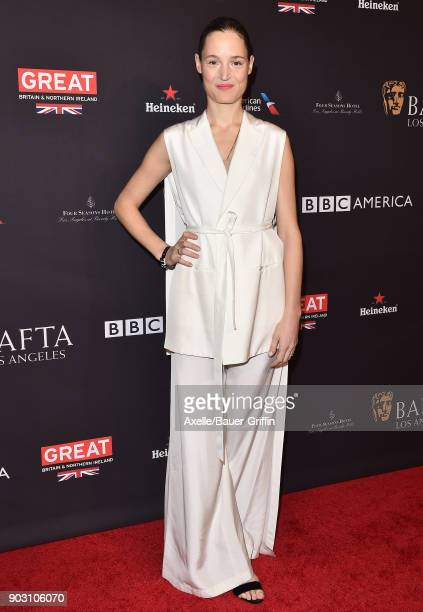Actress Vicky Krieps arrives at The BAFTA Los Angeles Tea Party at Four Seasons Hotel Los Angeles at Beverly Hills on January 6 2018 in Los Angeles...