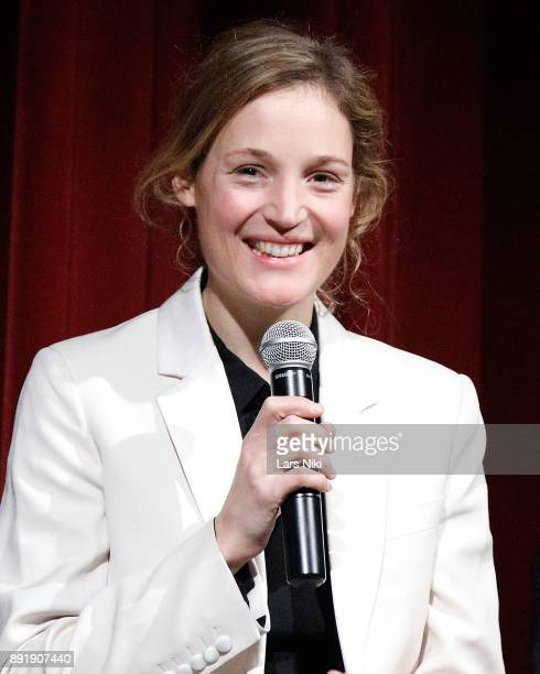 Actress Vicky Krieps on stage during The Academy of Motion Picture Arts Sciences Official Academy Screening of Phantom Thread at MOMA on December 12...