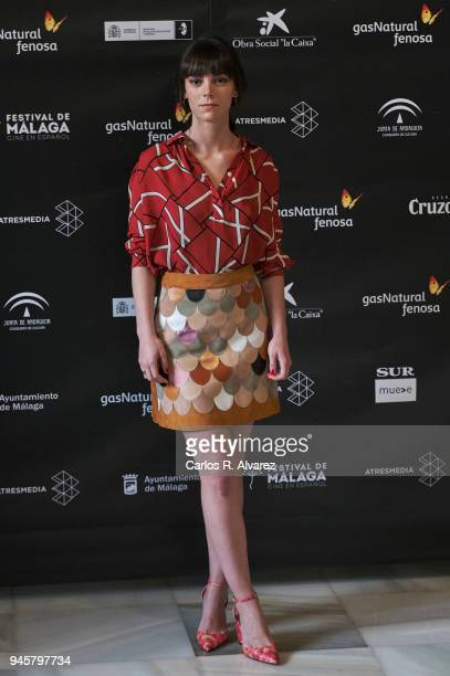 Actress Vicky Luengo attends 'Las Leyes de la Termodinamica' photocall at the Cervantes Theater on April 13 2018 in Malaga Spain