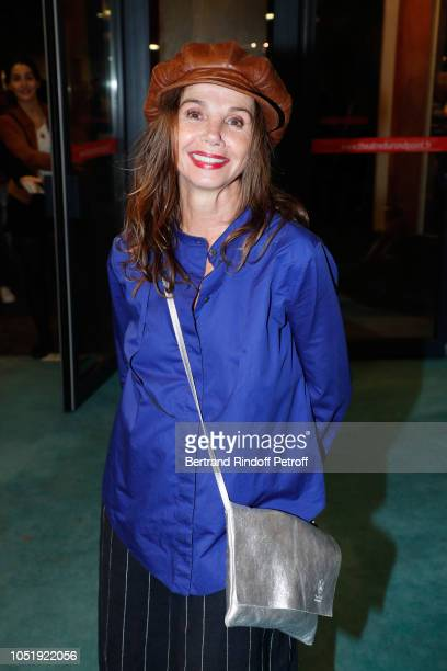 Actress Victoria Abril attends 'Le Banquet' Theater play at Theatre du RondPoint on October 11 2018 in Paris France