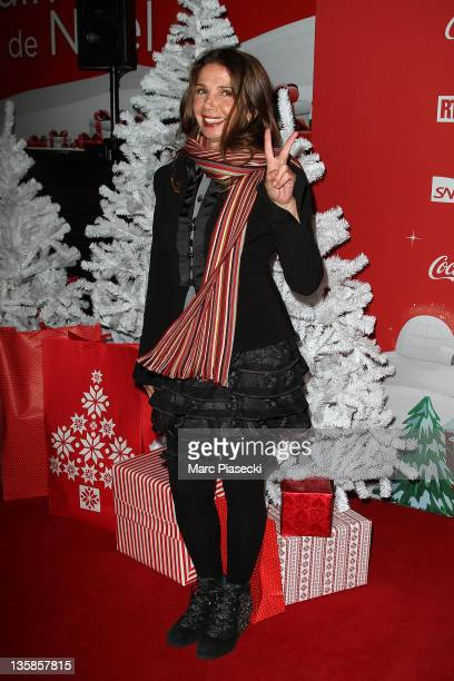 Actress Victoria Abril attends the 'Association Petits Princes' And Coca Cola Red Train Launch at Gare de L'Est on December 15 2011 in Paris France