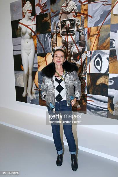 Actress Victoria Abril attends the 'Picasso Mania' Press Preview Held at Grand Palais on October 4 2015 in Paris France