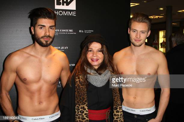 Actress Victoria Abril launches the Winter sales at Bazar de l'Hotel de Ville on January 9 2013 in Paris France
