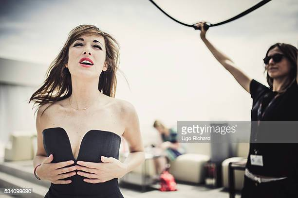 Actress Victoria Bedos is photographed for Gala on May 15 2016 in Cannes France