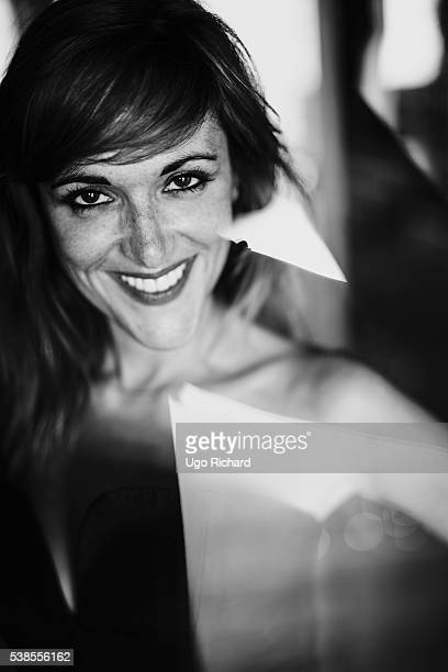 Actress Victoria Bedos is photographed for Self Assignment on May 15 2016 in Cannes France