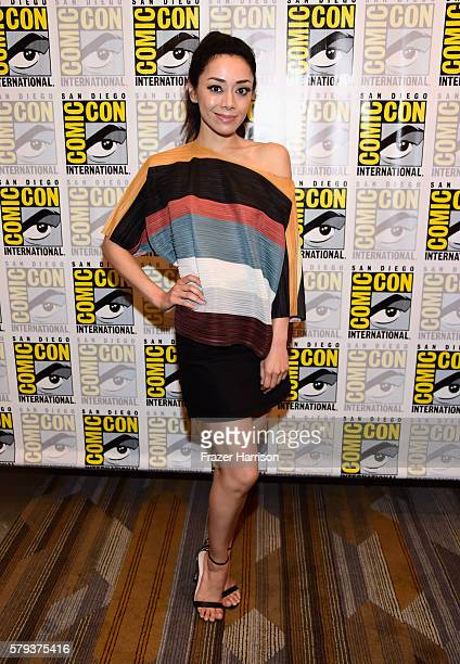 "Actress Victoria Cartagena attends the ""Gotham"" press line during Comic-Con International 2016 at Hilton Bayfront on July 23, 2016 in San Diego,..."