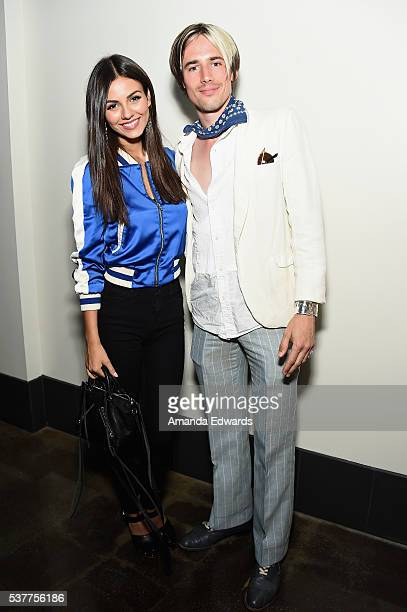 """Actress Victoria Justice and actor Reeve Carney attend the premiere of """"FREE CeCe!"""" during the 2016 Los Angeles Film Festival at Arclight Cinemas..."""