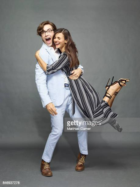 Actress Victoria Justice and actor Ryan McCartan from 'The Rocky Horror Picture Show' are photographed for Entertainment Weekly Magazine on July 21...