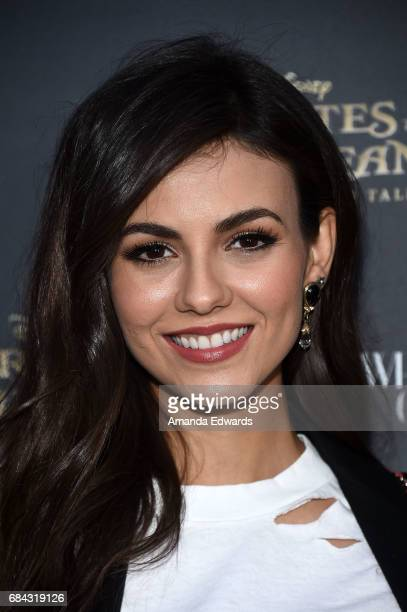 Actress Victoria Justice arrives at Disney's 'Pirates Of The Caribbean Dead Men Tell No Tales' What Goes Around Comes Around event at What Goes...