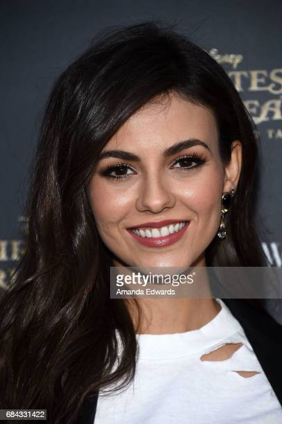 Actress Victoria Justice arrives at Disney's Pirates Of The Caribbean Dead Men Tell No Tales What Goes Around Comes Around event at What Goes Around...