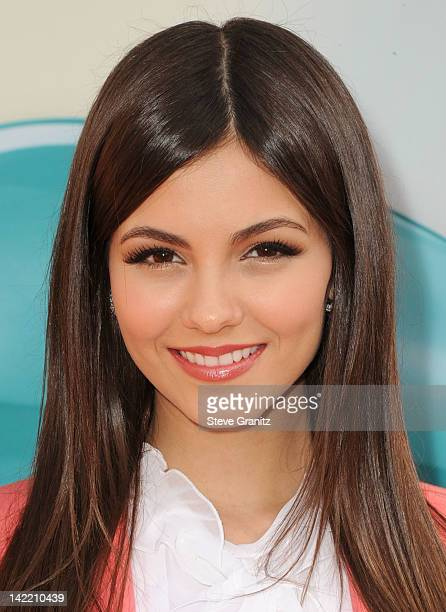 Actress Victoria Justice arrives at Nickelodeon's 25th Annual Kids' Choice Awards held at Galen Center on March 31 2012 in Los Angeles California