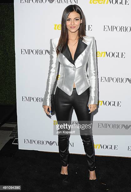 Actress Victoria Justice arrives at Teen Vogue's 13th Annual Young Hollywood Issue Launch Party on October 2 2015 in Los Angeles California