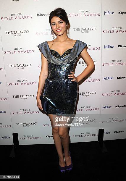 Actress Victoria Justice arrives at the 2010 Hollywood Style Awards at the Hammer Museum on December 12 2010 in Westwood California