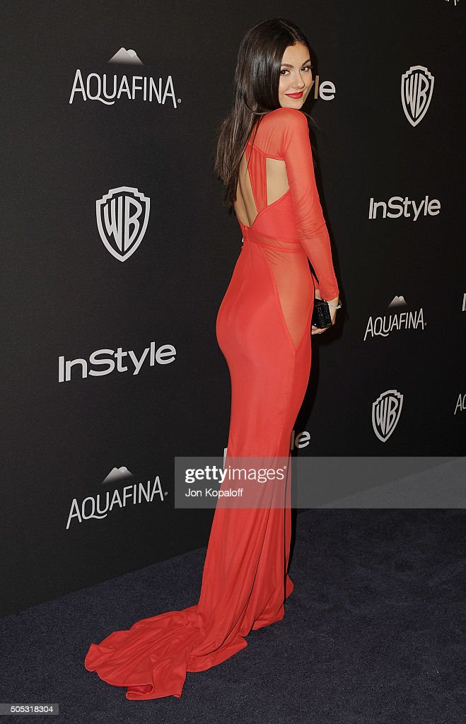 Actress Victoria Justice arrives at the 2016 InStyle And Warner Bros. 73rd Annual Golden Globe Awards Post-Party at The Beverly Hilton Hotel on January 10, 2016 in Beverly Hills, California.