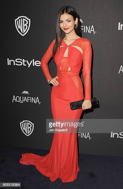 Actress Victoria Justice arrives at the 2016 InStyle And Warner Bros. 73rd Annual Golden Globe Awards Post-Party at The Beverly Hilton Hotel on...