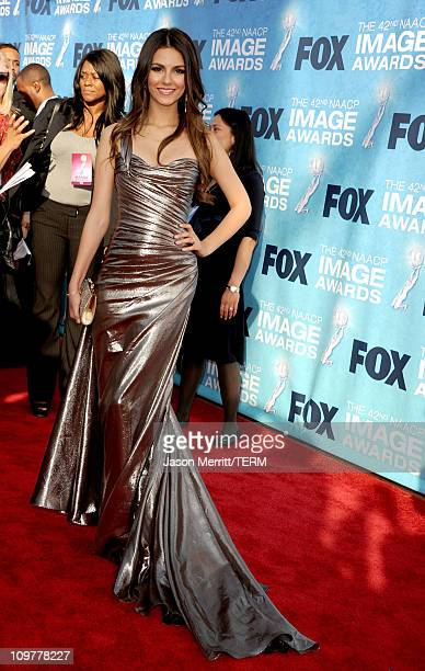 Actress Victoria Justice arrives at the 42nd NAACP Image Awards held at The Shrine Auditorium on March 4, 2011 in Los Angeles, California.