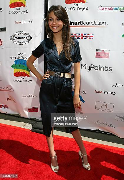 Actress Victoria Justice arrives at the Camp Ronald McDonald For Good Times 1st Annual Celebrity Teen Fashion Show at the 20th Century Fox Studios...