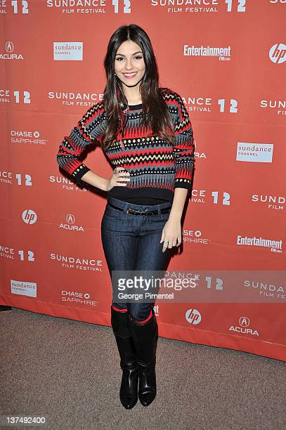 Actress Victoria Justice arrives at The First Time Premiere at Eccles Center Theatre on January 21 2012 in Park City Utah