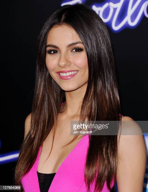 Actress Victoria Justice arrives at the Los Angeles Premiere Footloose at Regency Village Theatre on October 3 2011 in Westwood California