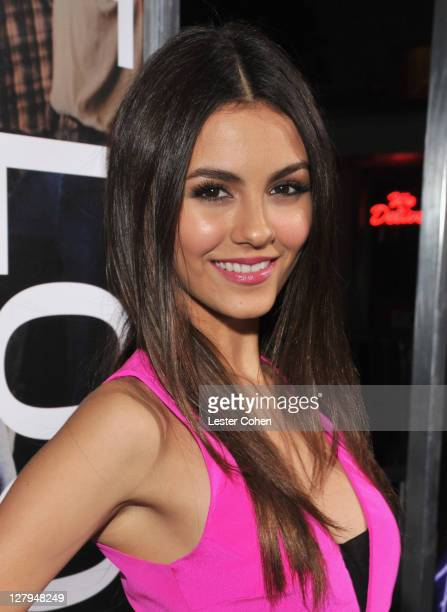 Actress Victoria Justice arrives at the premiere of Footloose held at the Regency Village Theatre on October 3 2011 in Westwood California