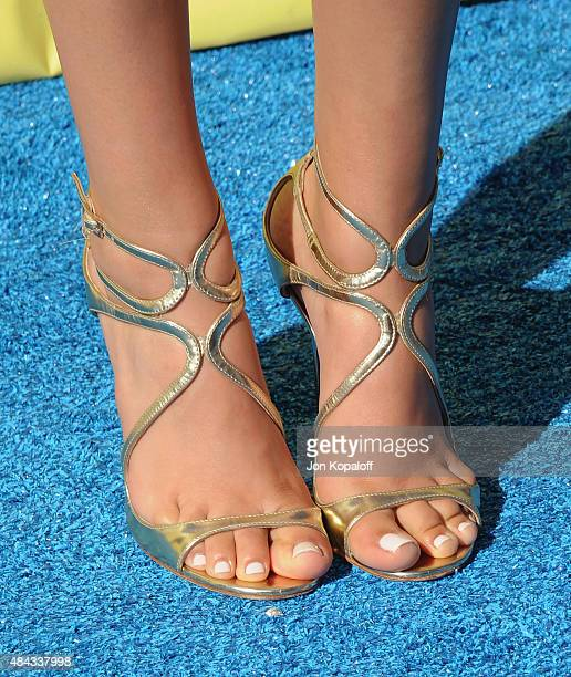 Actress Victoria Justice arrives at the Teen Choice Awards 2015 at Galen Center on August 16 2015 in Los Angeles California