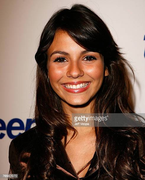 Actress Victoria Justice arrives at the Teen Vogue Young Hollywood Party at Vibiana on Sepember 20 2007 in Los Angeles California