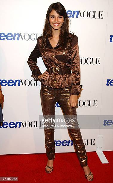 Actress Victoria Justice arrives at the Teen Vogue young Hollywood party held at Vibiana on September 20 2007 in Los Angeles California