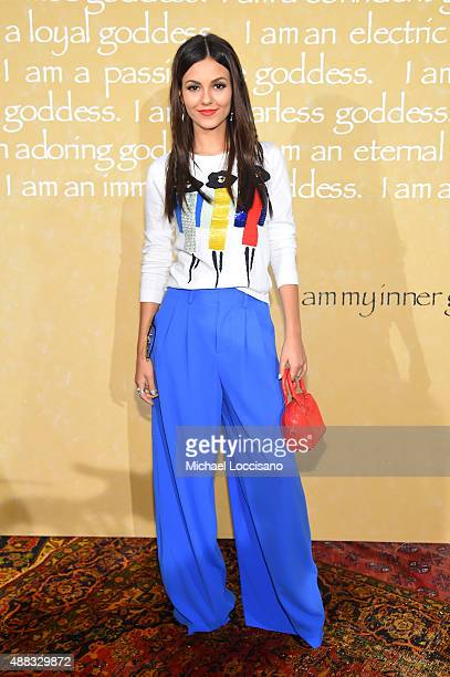 Actress Victoria Justice attends Alice + Olivia By Stacey Bendet Spring 2016 during New York Fashion Week: The Shows at The Gallery, Skylight at...