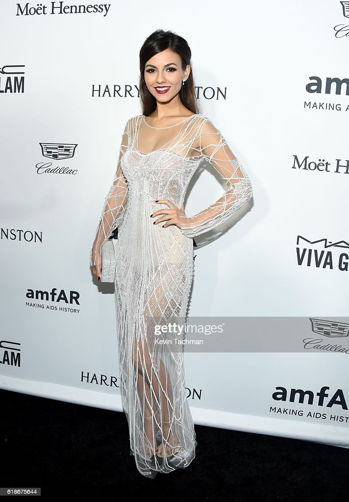 Actress Victoria Justice attends amfAR's Inspiration Gala at Milk Studios on October 27, 2016 in Hollywood, California.