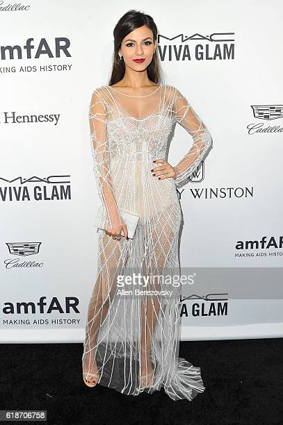 Actress Victoria Justice attends amfAR's Inspiration Gala Los Angeles at Milk Studios on October 27 2016 in Hollywood California