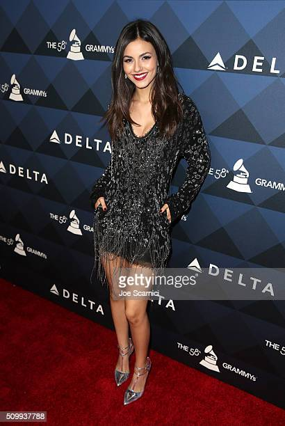 Actress Victoria Justice attends Delta Air Lines Toasts GRAMMY Weekend with 'Sites and Sounds' A Private Performance and Interactive Evening with...